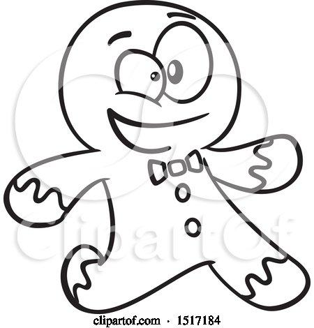 450x470 Clipart Of A Cartoon Gingerbread Man Running