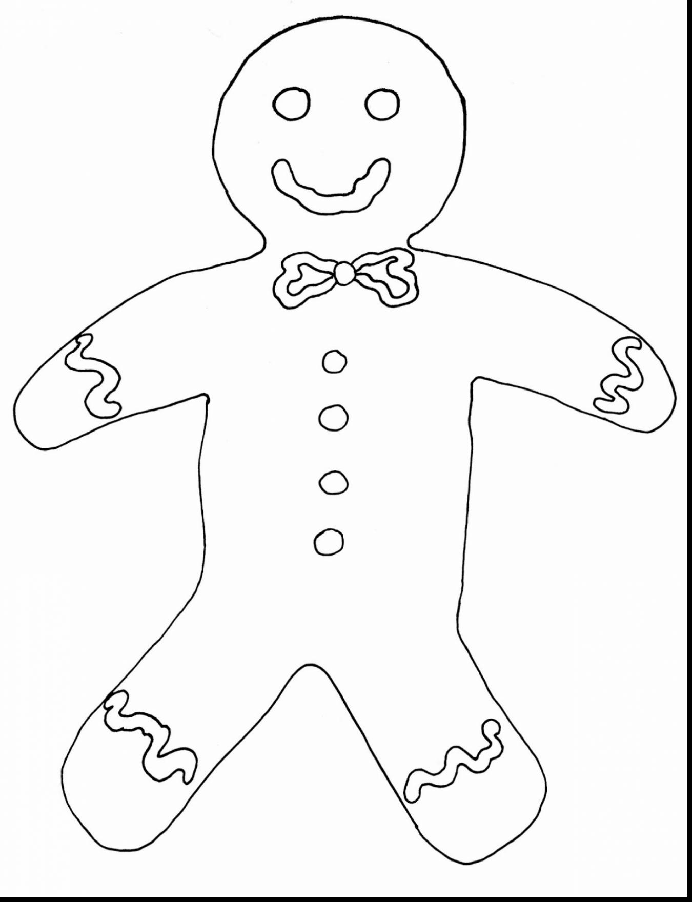 1350x1760 Delighted Gingerbread Man Drawing Template Pictures Inspiration