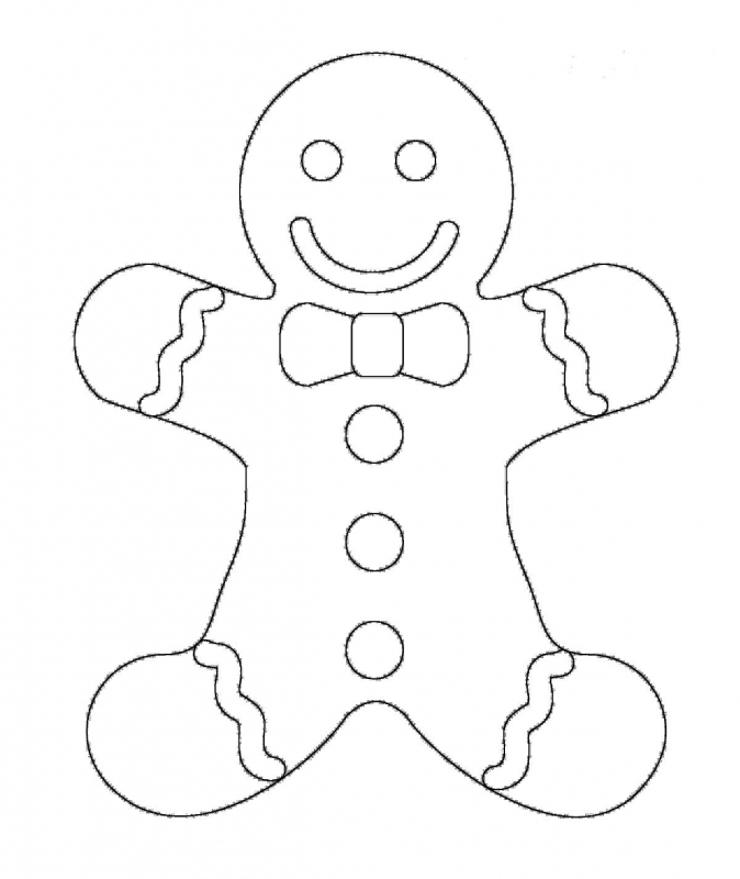 Gingerbread man drawing at free for for Coloring pages of gingerbread man