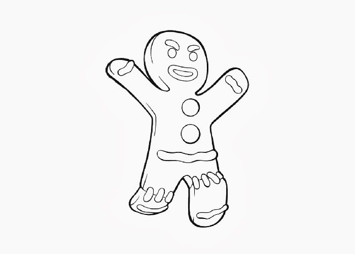 700x500 Gingerbread Man Coloring Pages Bebo Pandco