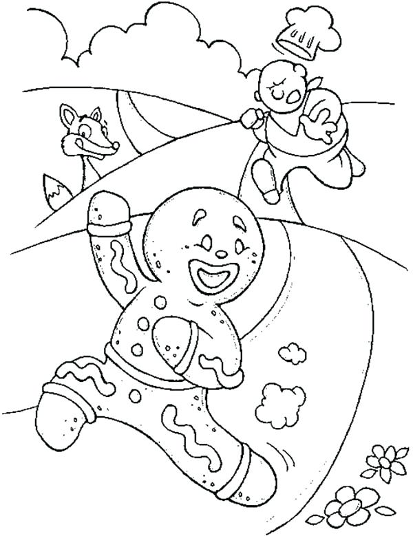 600x779 Gingerbread Man Coloring Pages Online Hidden Color Words Freebie