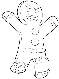 236x315 Shrek Gingerbread Man Coloring Pages Color Bros