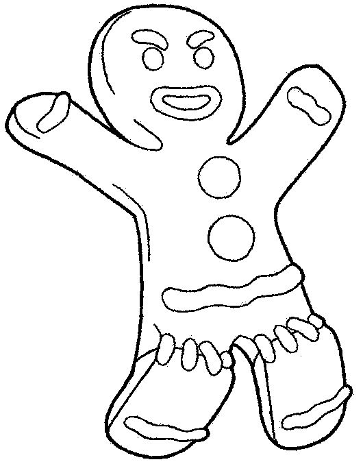 530x674 Shrek Coloring Pages Gingerbread Man