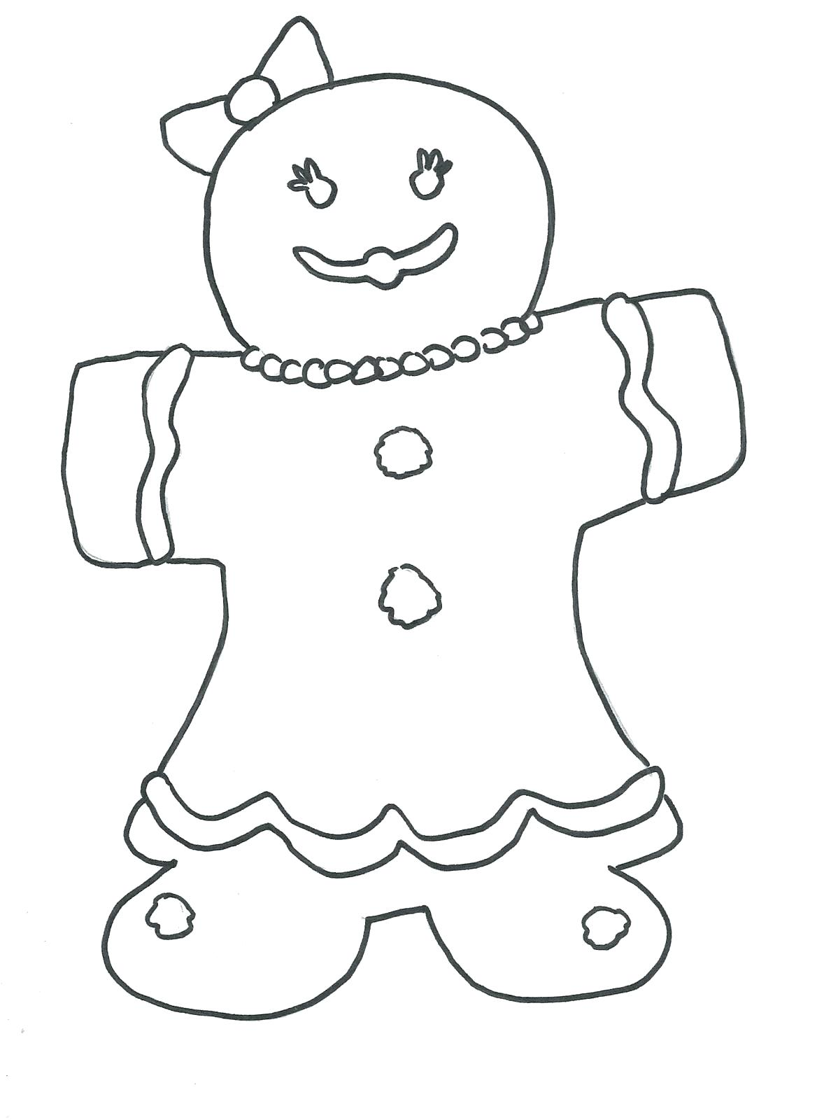 1168x1600 Coloring Coloring Pages Of Gingerbread Man Book Picture House