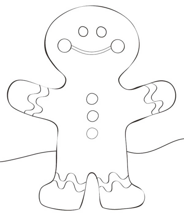 600x708 Cheerful Mr Gingerbread Man And Christmas House