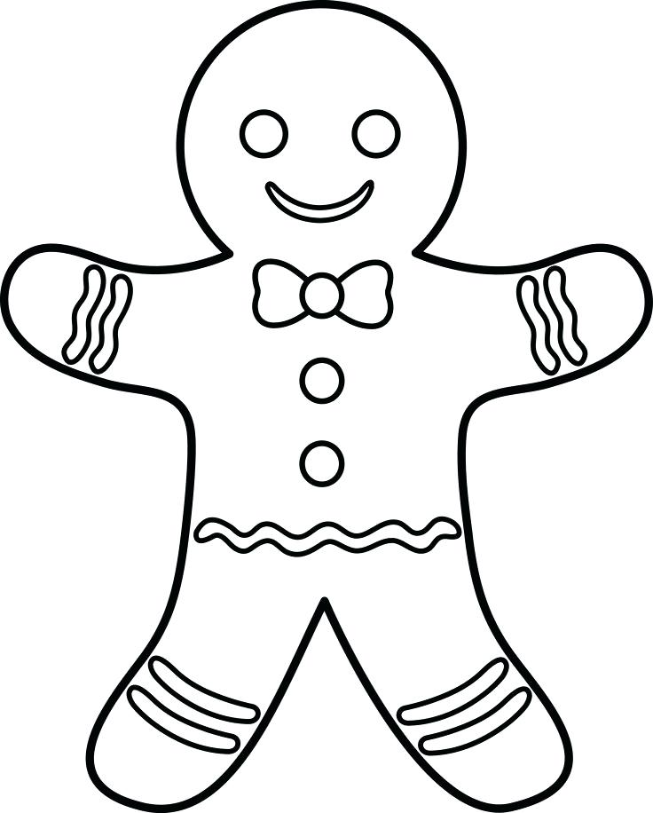 Gingerbread Man Line Drawing