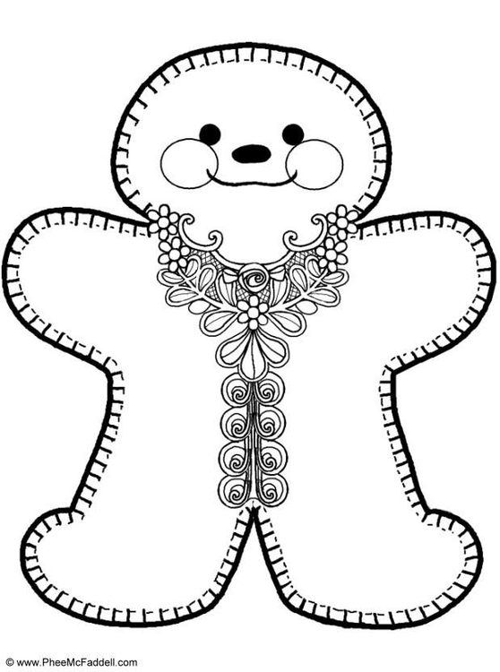558x750 Coloring Page Gingerbread Man