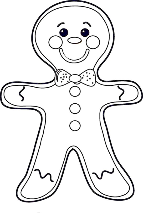 600x890 gingerbread man coloring page free allmadecine weddings having - Gingerbread Man Coloring Pages Free