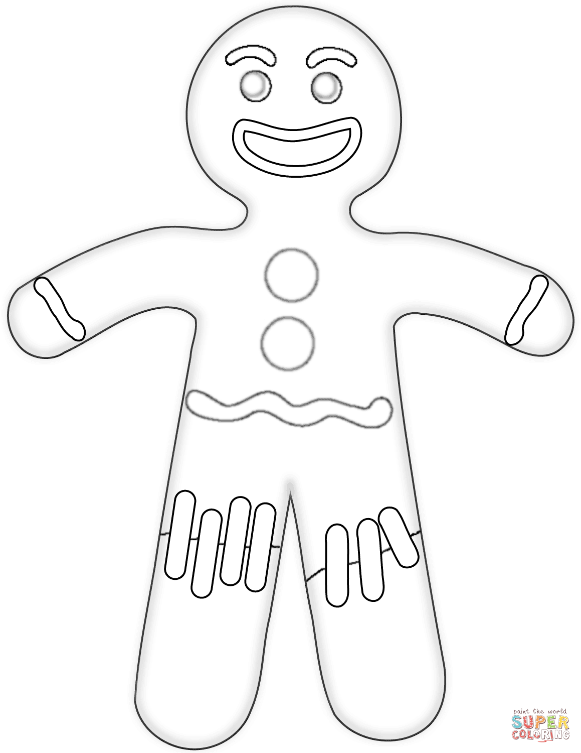 Gingerbread Man Line Drawing at GetDrawings.com | Free for personal ...