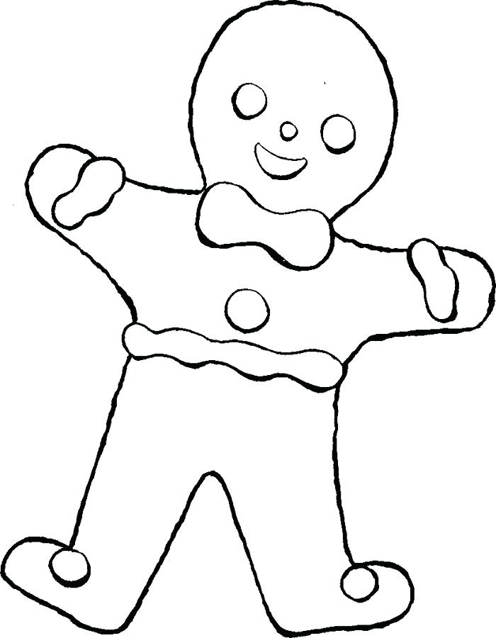 700x900 Coloring Pages Gingerbread Man