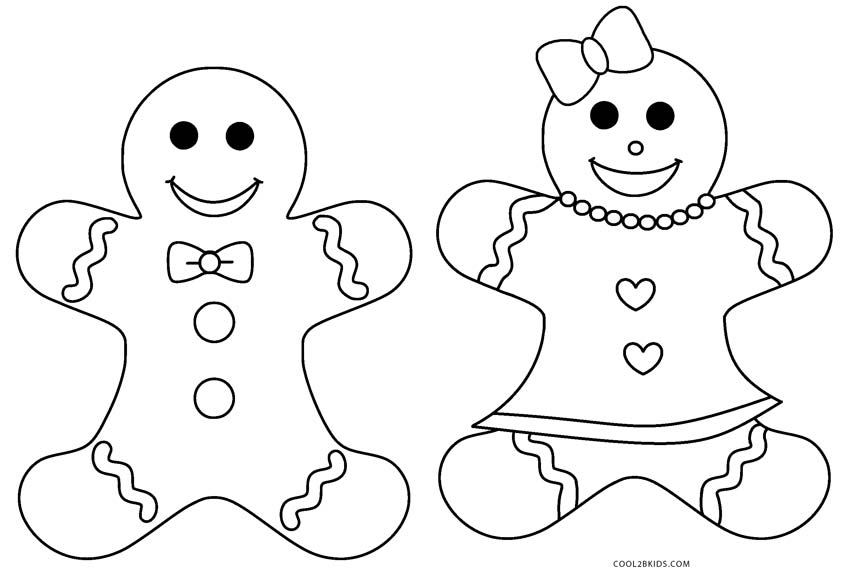 Easy Coloring Pages Gingerbread House