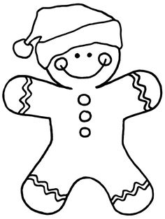 236x313 Gingerbread Man Cutout Template