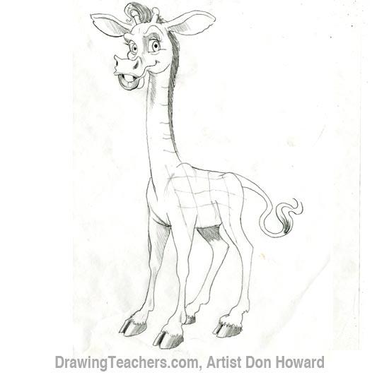 550x531 Cartoon Giraffe
