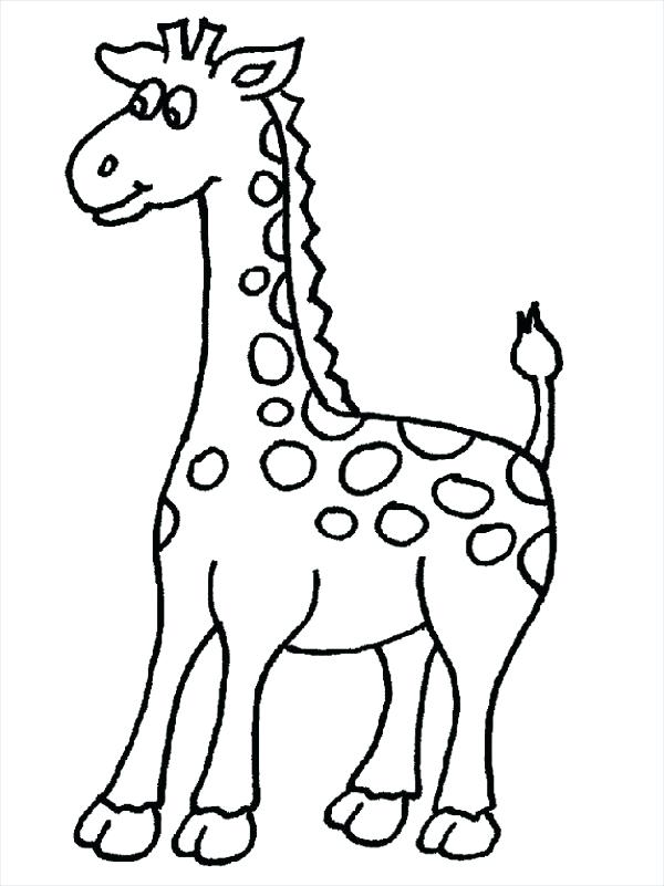 600x801 Cute Giraffe Coloring Pages Cute Giraffe Coloring Page Cartoon