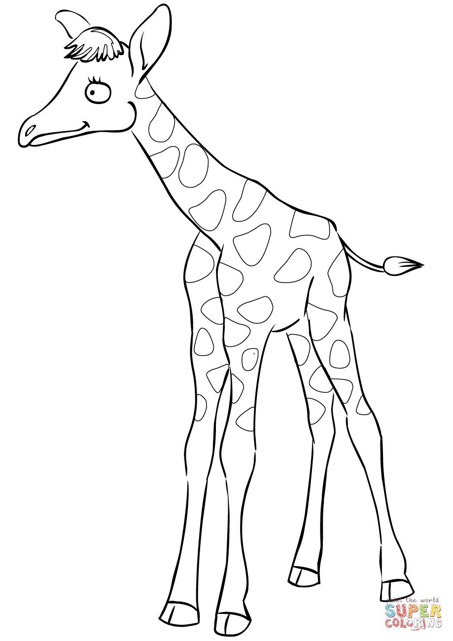 919x1300 Cartoon Baby Giraffe Group