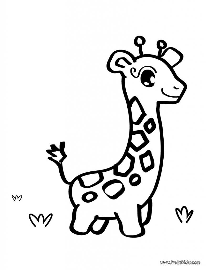 792x1024 Cartoon Giraffe Drawing Download Cartoon Giraffe Coloring Pages