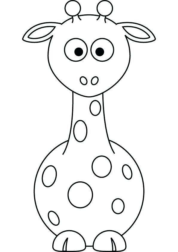 595x842 Giraffe Coloring Pages To Print Download Free Baby Giraffe Drawing