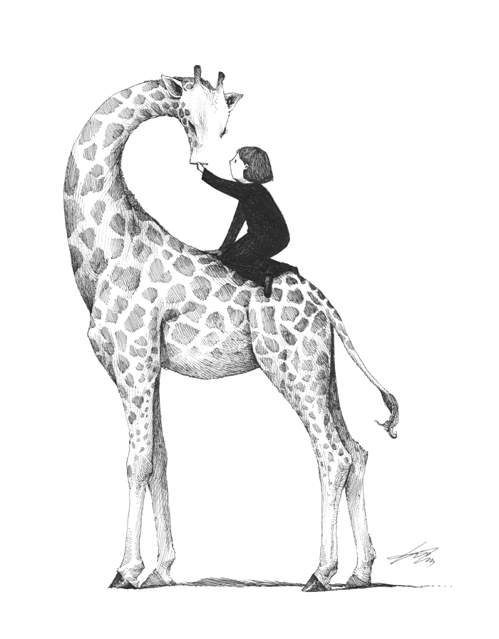 700x896 Giraffe Drawing By Spowys
