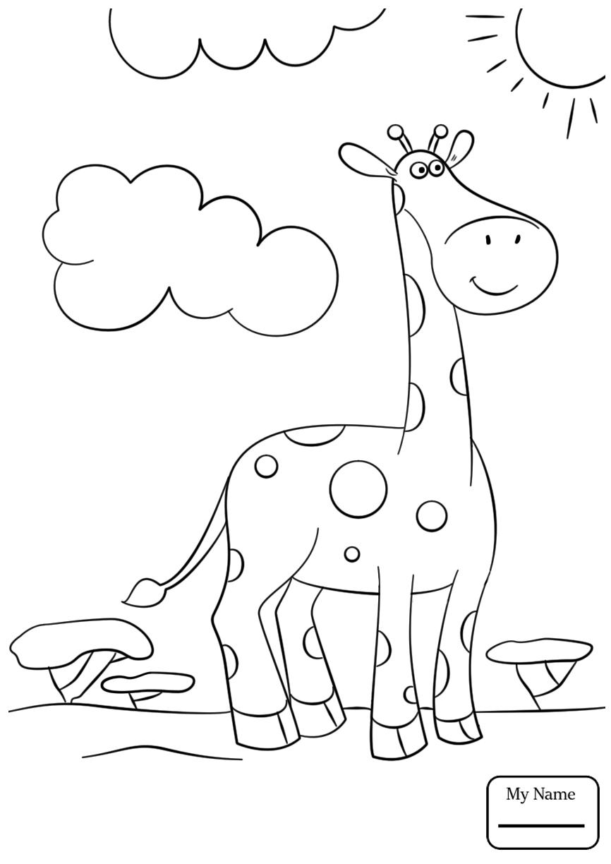 866x1224 Giraffes Cartoon Giraffe Wearing A Sweater Mammals Coloring Pages