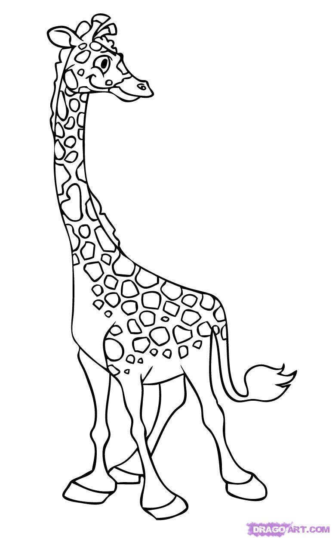 772x1251 Cartoon Giraffe Drawing How To Draw A Cartoon Giraffe, Stepstep