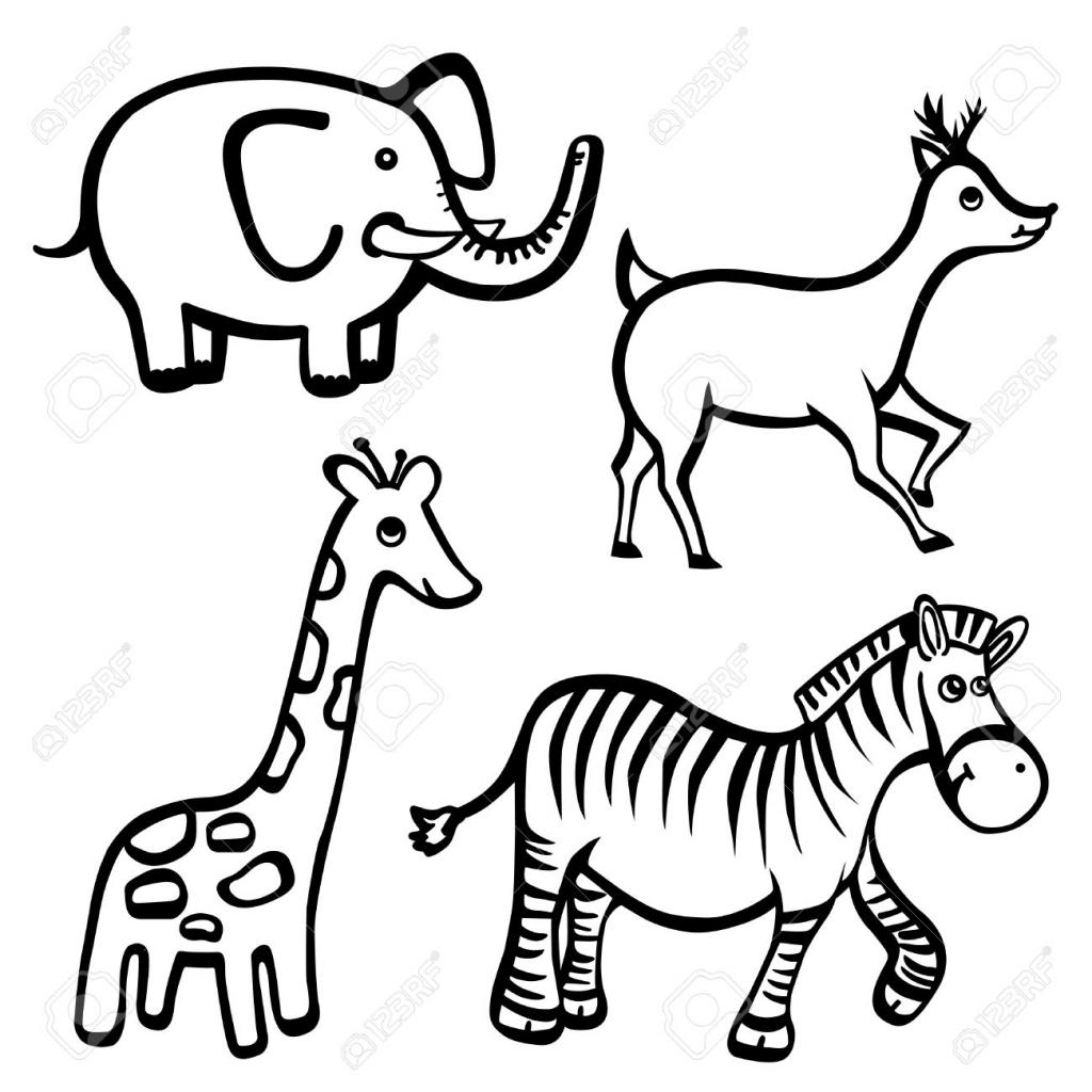 1024x1024 Cartoon Giraffe Drawing How To Draw A Cartoon Giraffe Easy