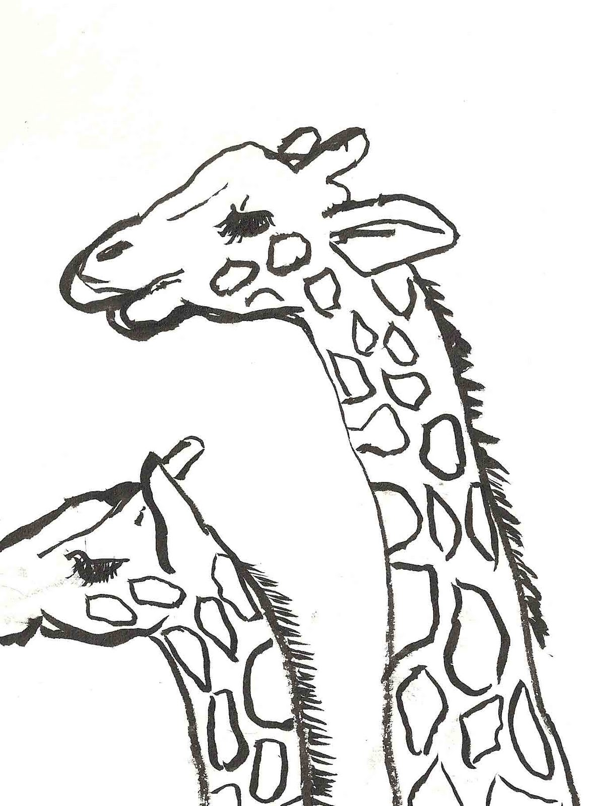 1177x1600 Cartoon Giraffe Drawings