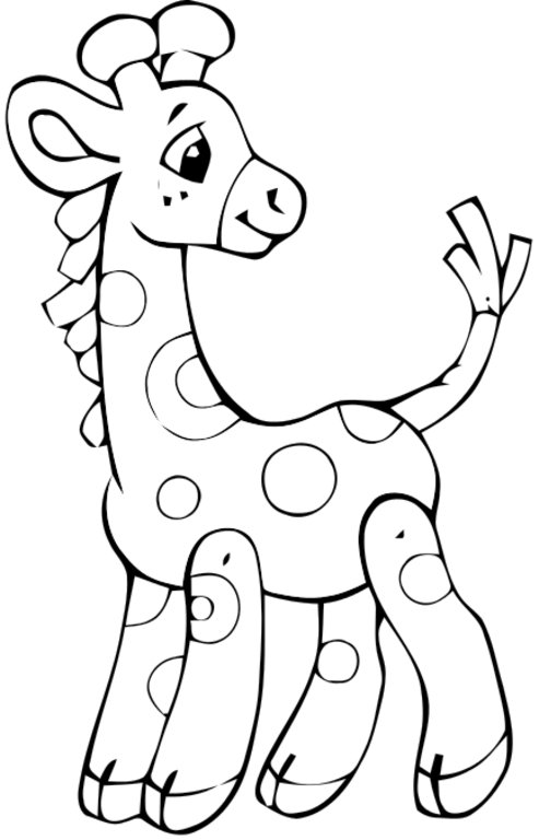 493x768 Cute Giraffe Coloring Pages Download