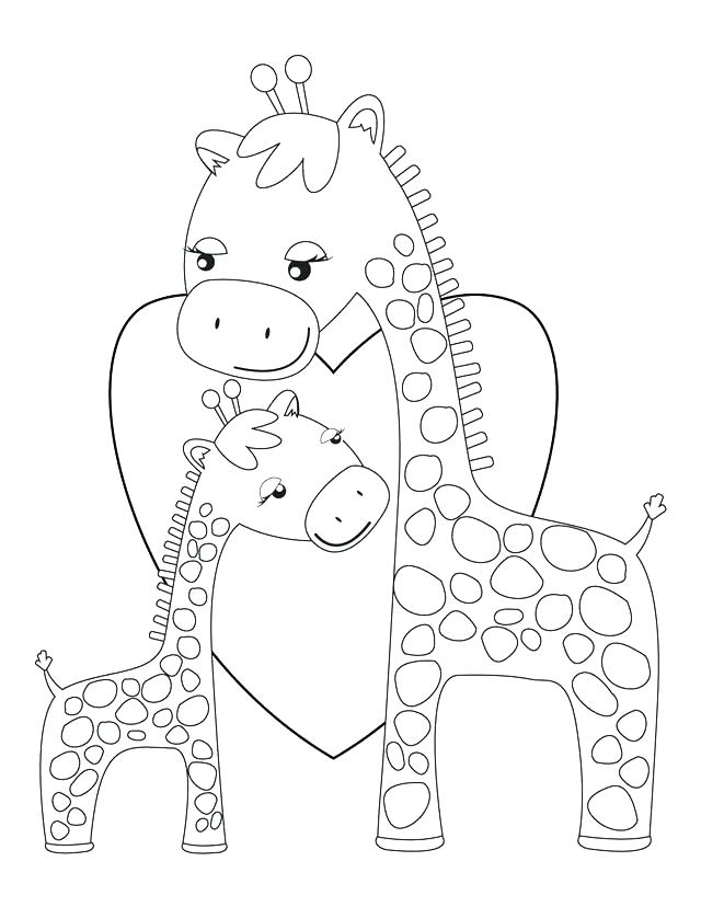 640x828 Minimalist Giraffe Coloring Page Fee Baby Pages Cute