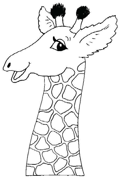 521x768 Baby Giraffe Coloring Pages Giraffe Head Coloring Pages Cute Baby