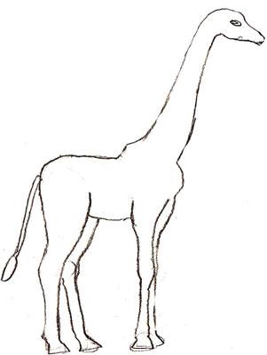 301x400 Easy To Draw Giraffe