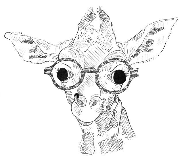 640x564 Hipster Giraffe Drawing Tumblr