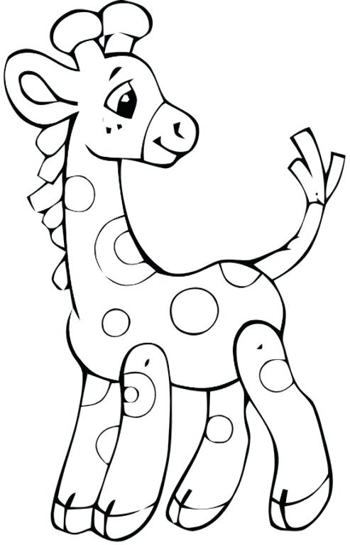 493x768 Baby Giraffe Coloring Pages Giraffes Coloring Pages The N Giraffe