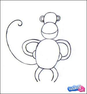 300x323 How To Draw Monkey