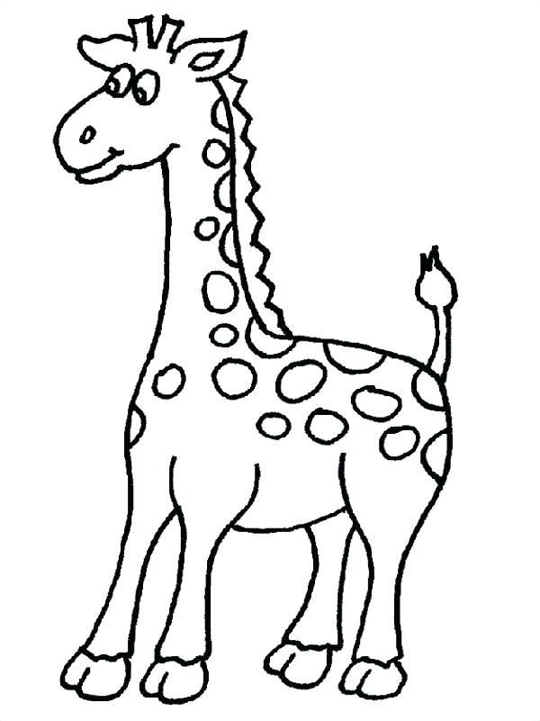 600x801 Inspirational Cute Giraffe Coloring Pages Online Baby Colored