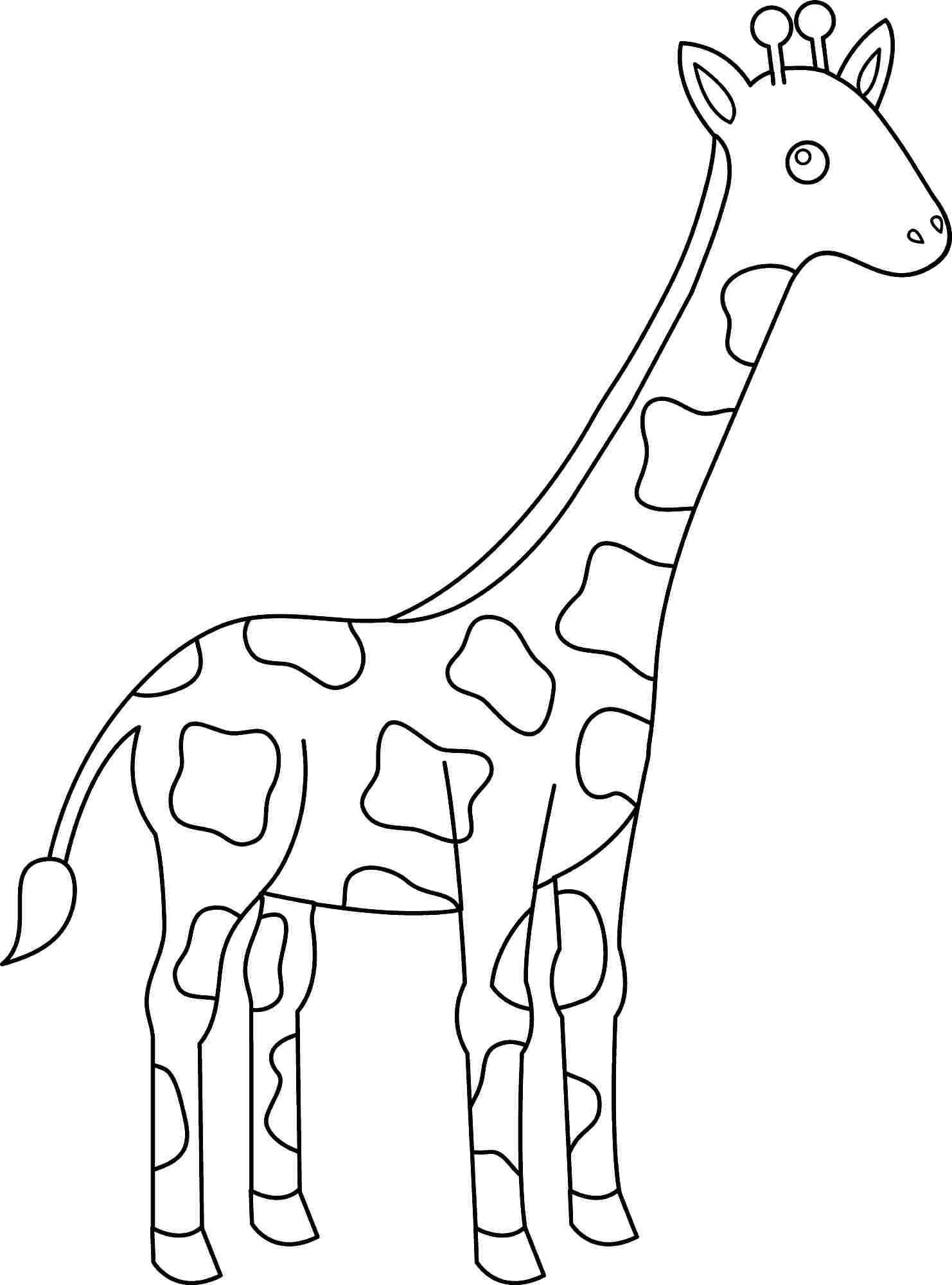 1482x2000 Valuable Design Animal Coloring Pages Giraffe Animals For Kids