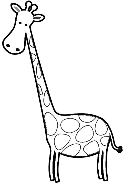 484x720 Free Coloring Book Of Giraffes Cartoon Giraffes Coloring Page