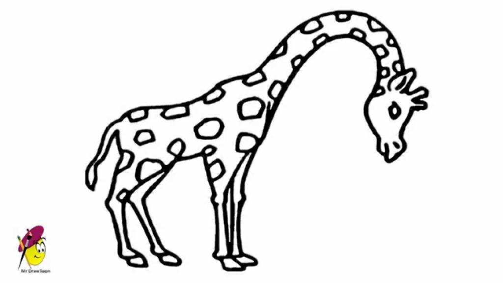 1024x576 Giraffe How To Draw Giraffe Easy Drawing How To Draw A Giraffe