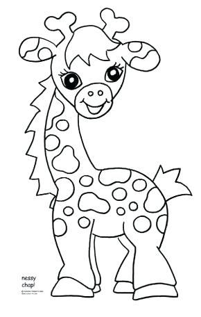 290x456 Baby Giraffe Coloring Pages Also Download Free Baby Giraffe