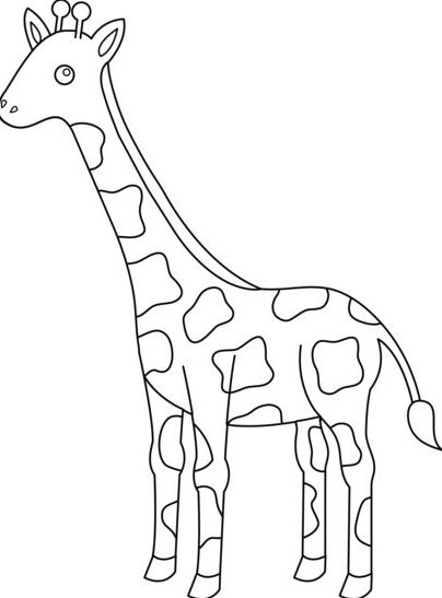 giraffe drawing outline at getdrawings com free for personal use
