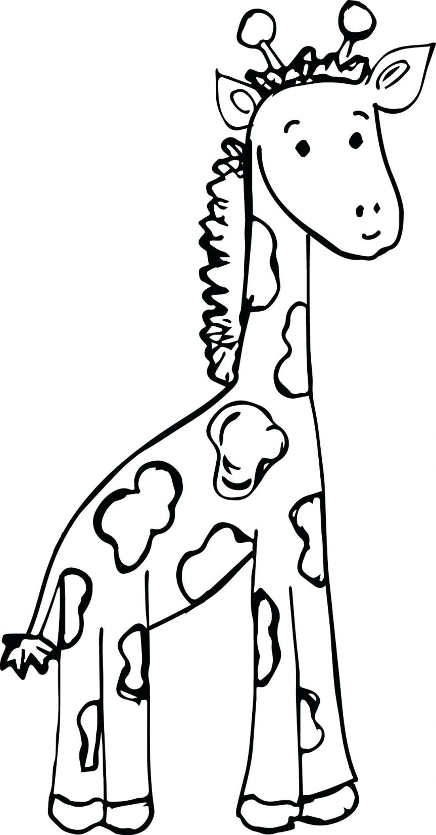 Giraffe Face Drawing At Getdrawings Free For Personal Use
