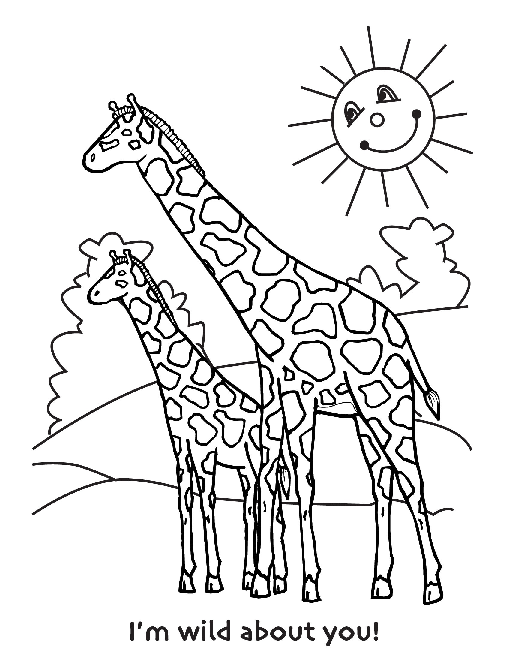 Giraffe Line Drawing at GetDrawings | Free download