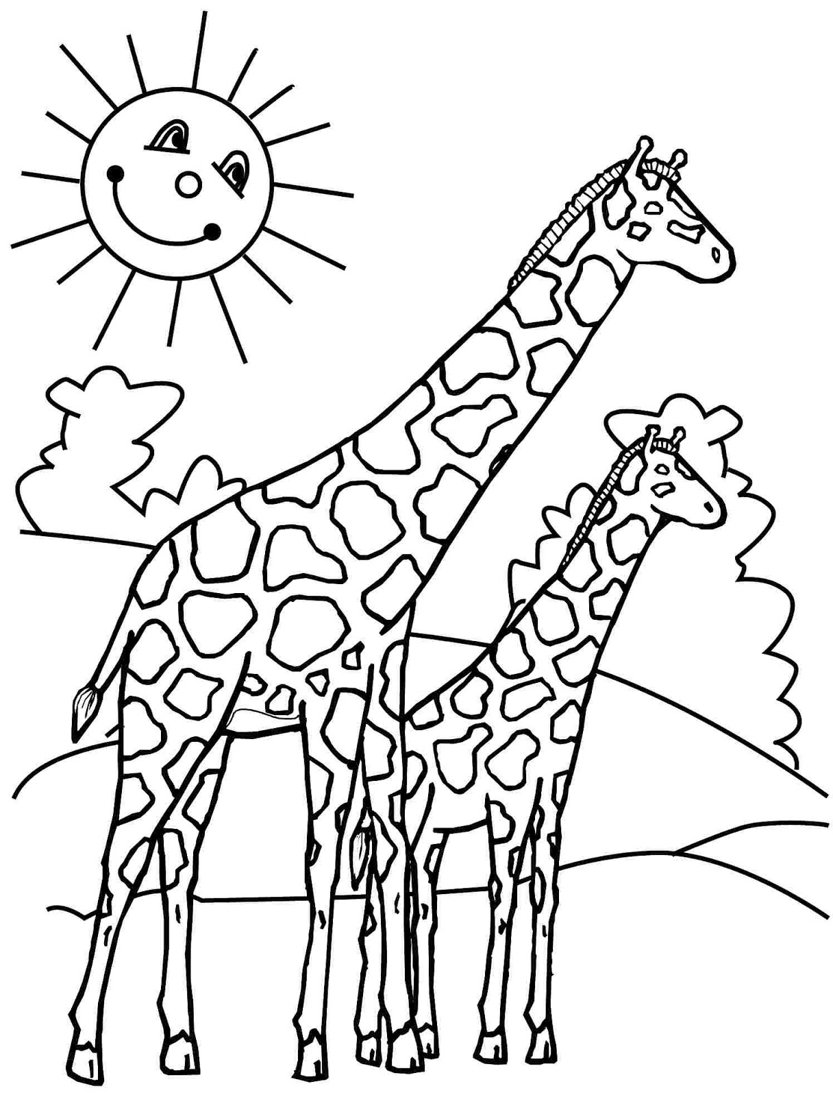 Giraffe Line Drawing At Getdrawings Com Free For