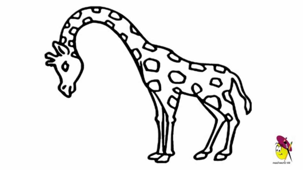 1024x576 A Drawing Of A Giraffe