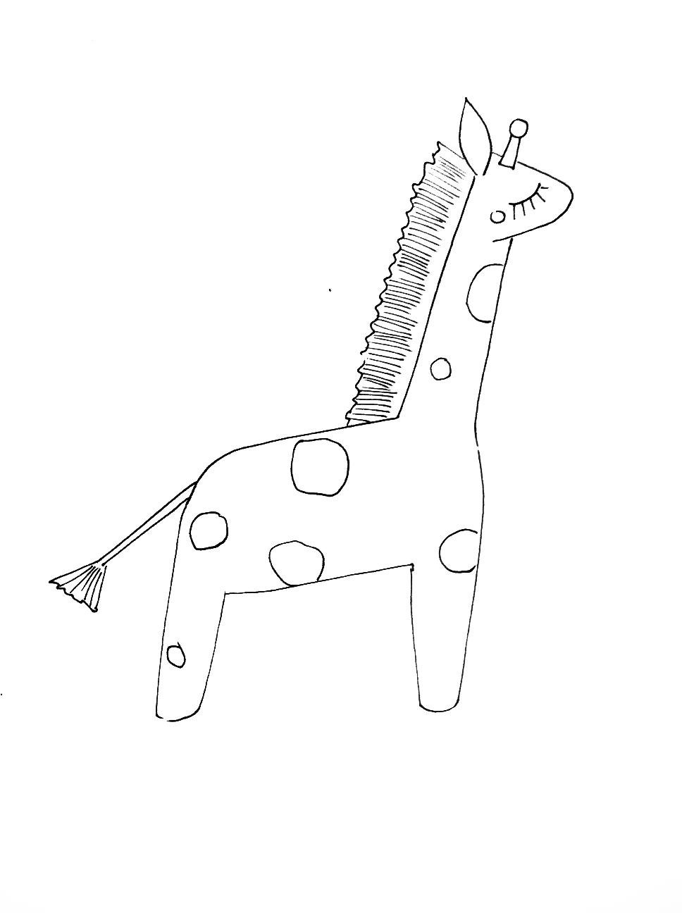 968x1296 Scribble Art Studio Blog Fun New Projects! Giraffe Ornament!