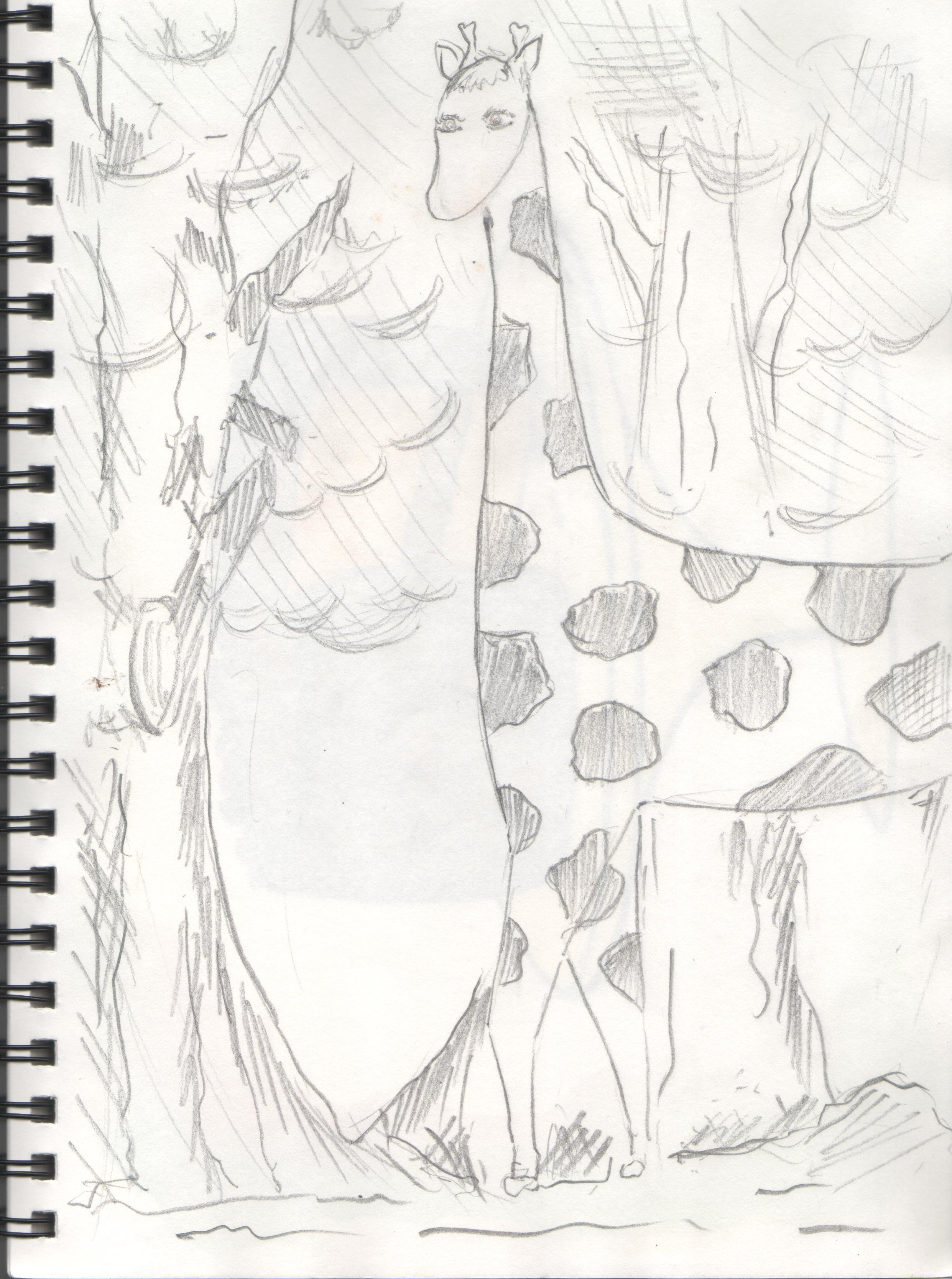 2483x3336 The Giraffe, Pencil On Paper.
