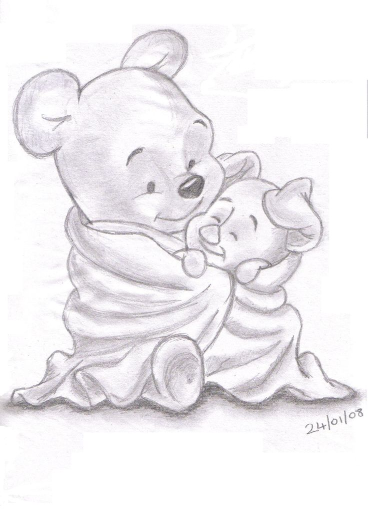 736x1016 disney sketches winnie the pooh and piglet landn83