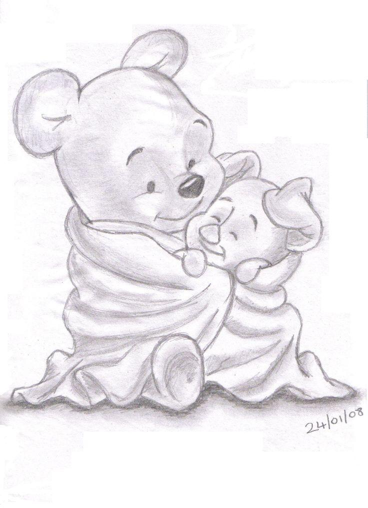 736x1016 Disney Sketches Winnie The Pooh And Piglet Landn83