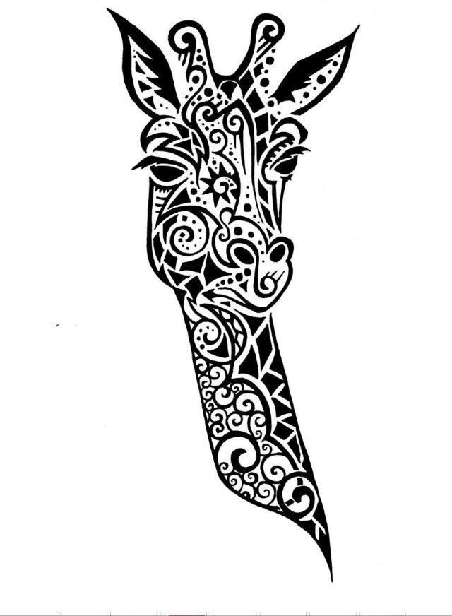 640x872 Celtic Giraffe Tattoos Giraffe, Cricut And Bujo