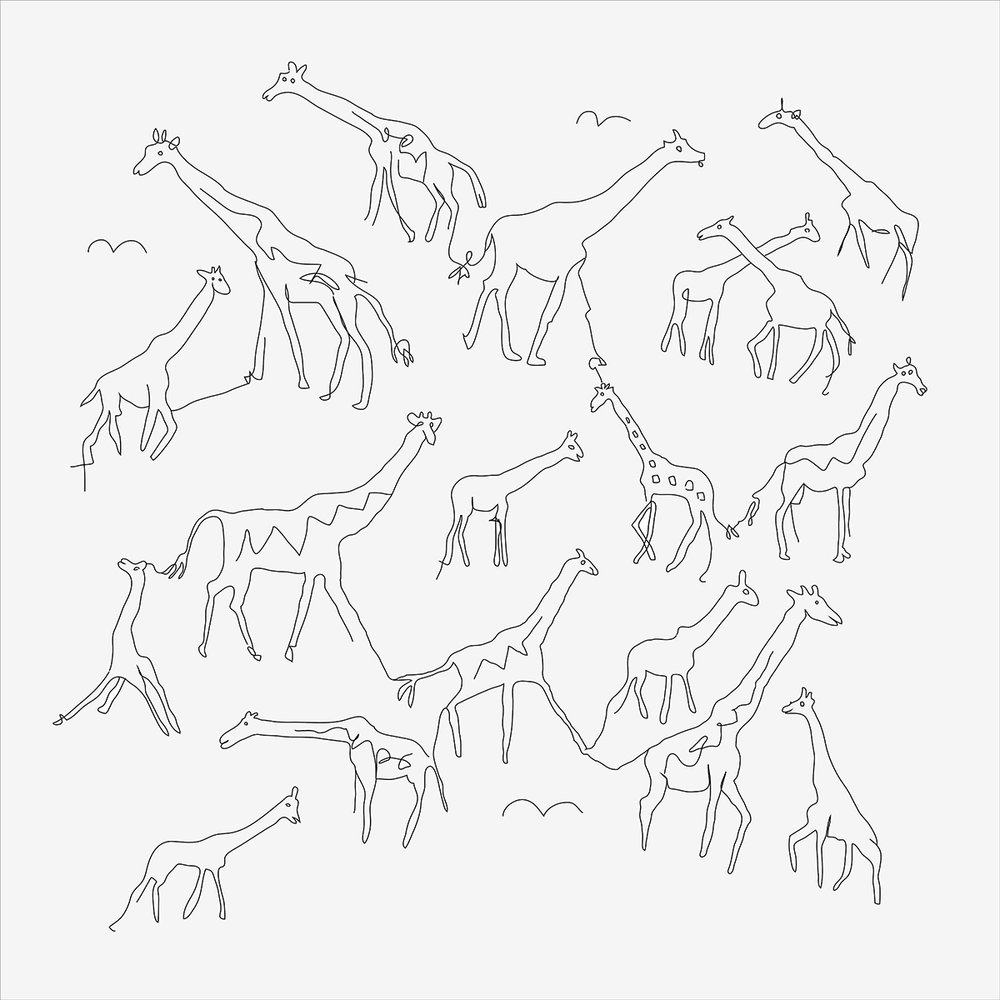 Giraffes Drawing