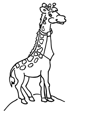 364x480 Giraffe With Necktie Coloring Page Free Printable Coloring Pages